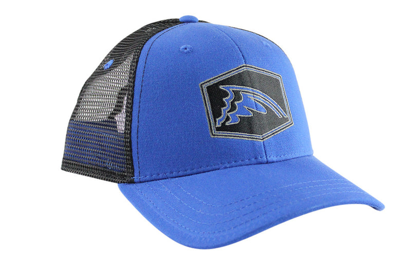 Black & Blue Mesh Trucker Hat