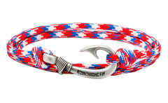 Red, White & Blue #2 Fish Hook Bracelet
