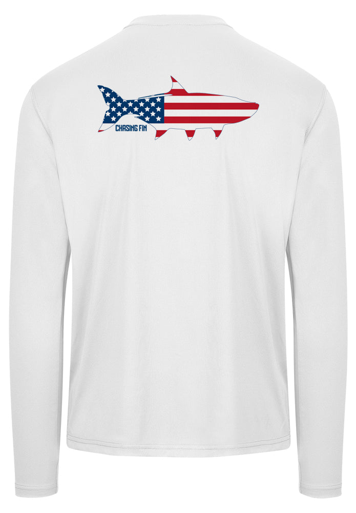 Patriotic Tarpon Performance Shirt