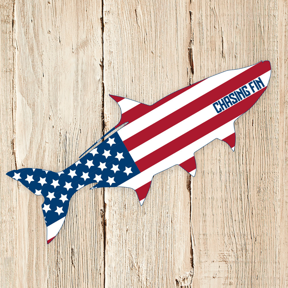Patriotic Tarpon Decal