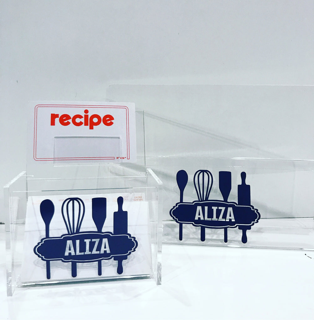 Lucite Recipe Box