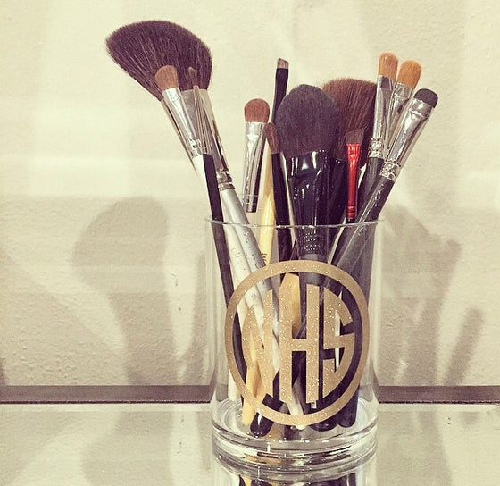 Lucite Makeup Brush Holder