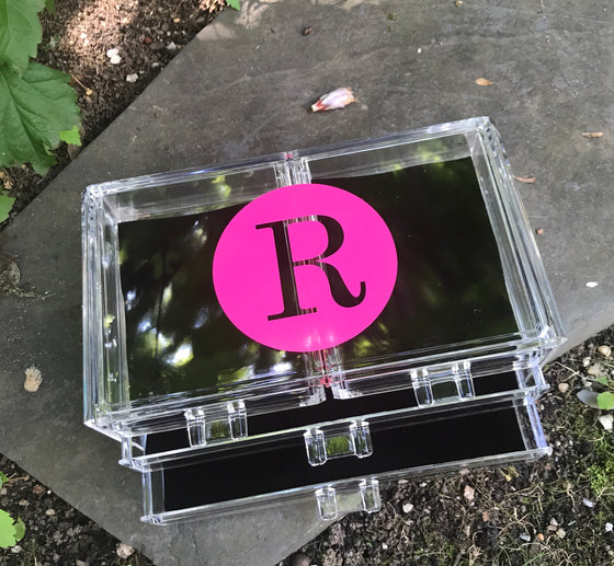 Large Lucite Jewelry Box
