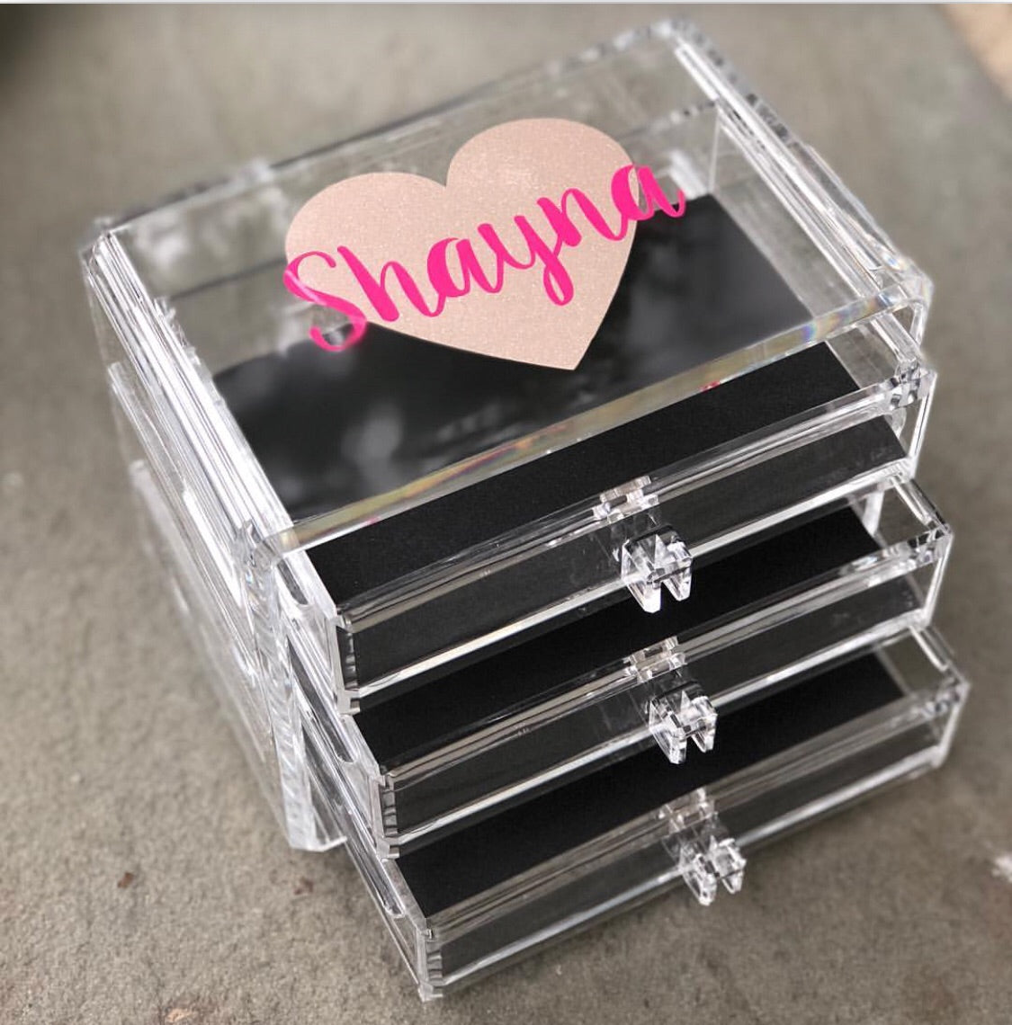 Bella Mia Small Lucite Jewelry Box