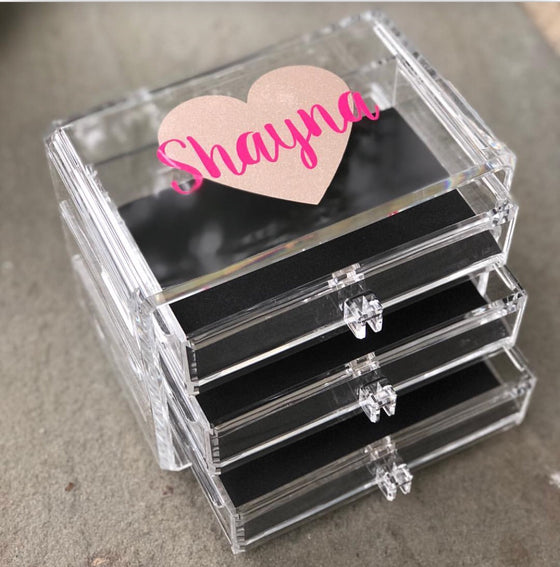 Small Lucite Jewelry Box