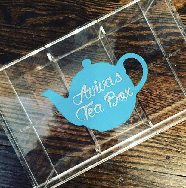 Lucite Tea Box