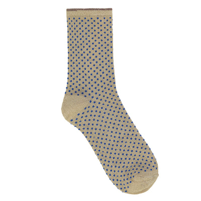 BeckSöndergaard Socken Dina Small Dots in Royal Blue 1