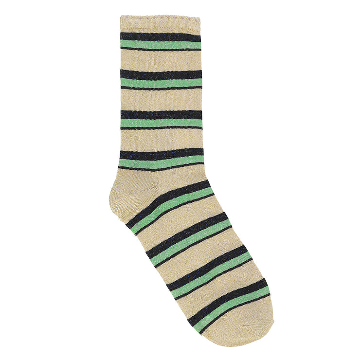 BeckSöndergaard Socken Dina Summer Stripe in Grass Green 1