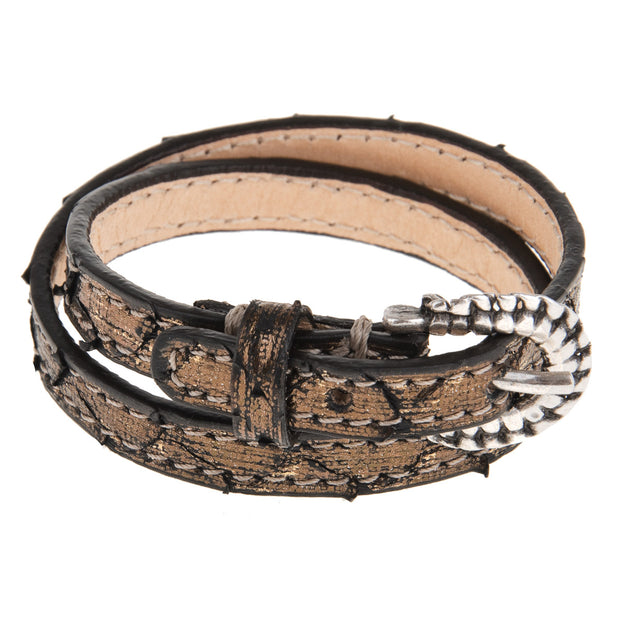 Reptile's House Messingfarbenes Armband 1