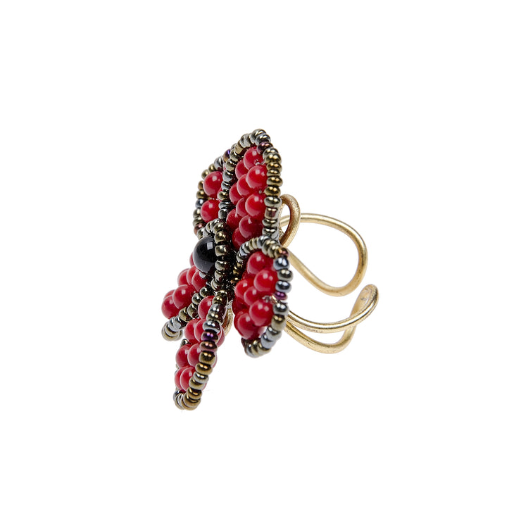 One Size Ring in rot von Nakamol