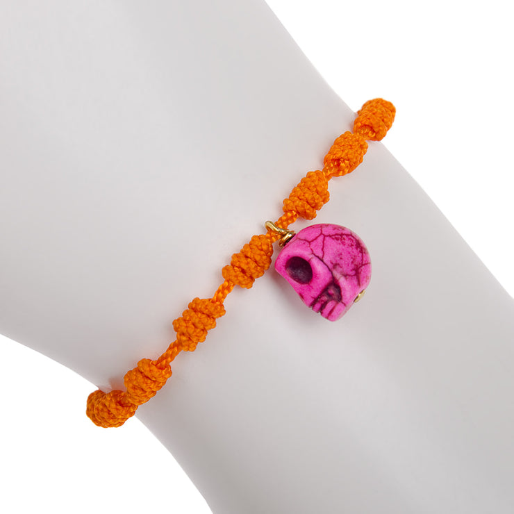 Mono and Me Armband Totenkopf in Orange