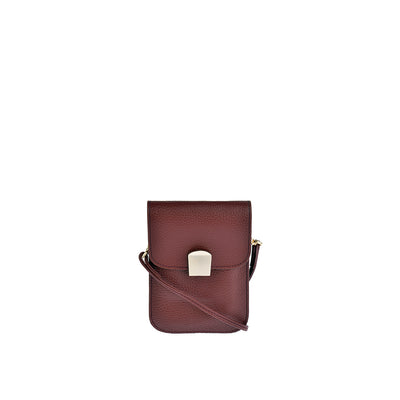 CHI CHI FAN Flap Bag Hoch in Bordeaux