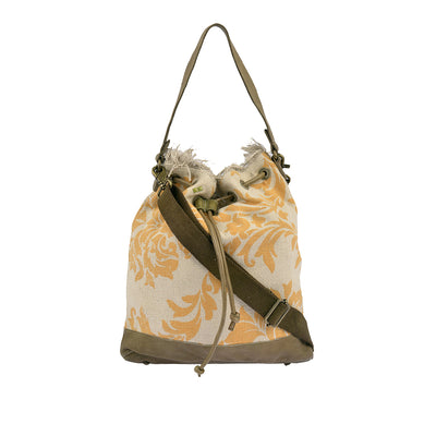 DESIDERIUS Bucket Bag Loona in Gelb/Beige