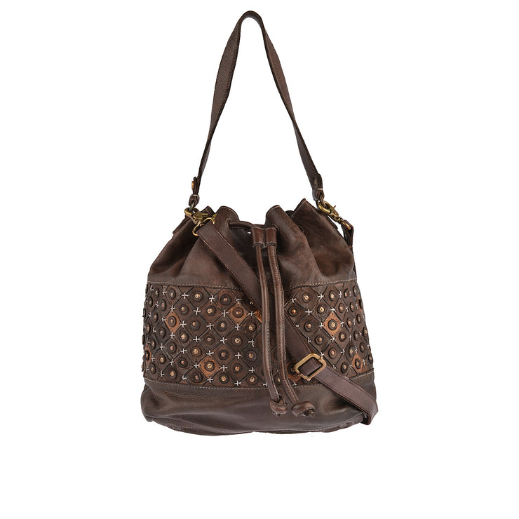 DESIDERIUS Bucket Bag Chloe in Dunkelbraun 1