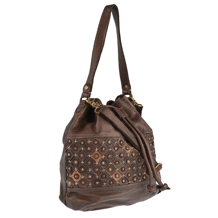 DESIDERIUS Bucket Bag Chloe in Dunkelbraun 2