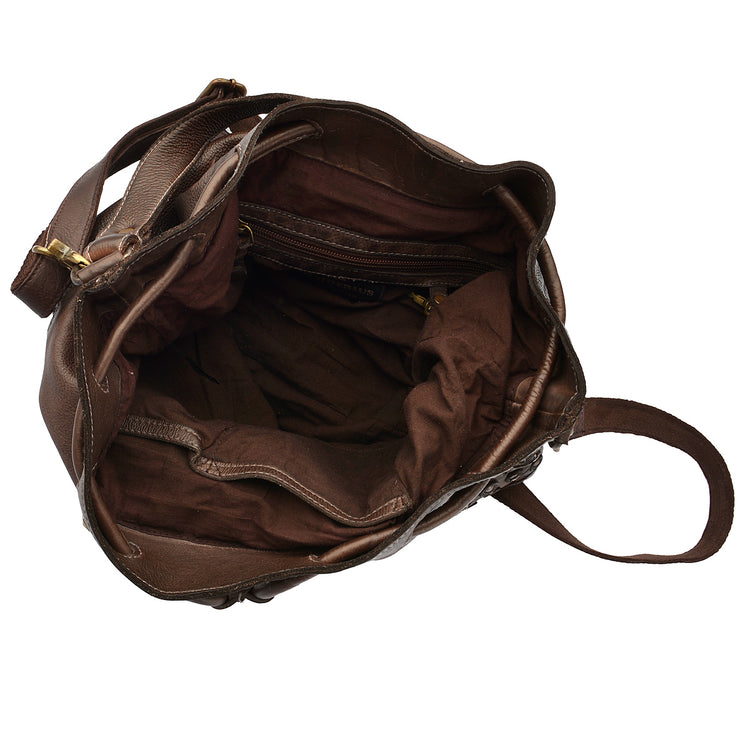 DESIDERIUS Bucket Bag Chloe in Dunkelbraun 4