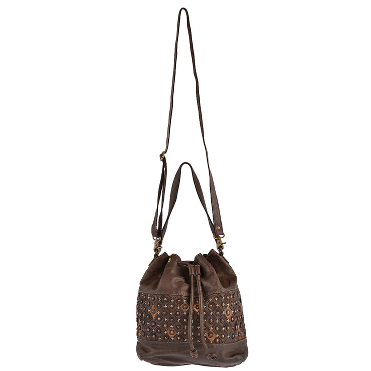 DESIDERIUS Bucket Bag Chloe in Dunkelbraun 6