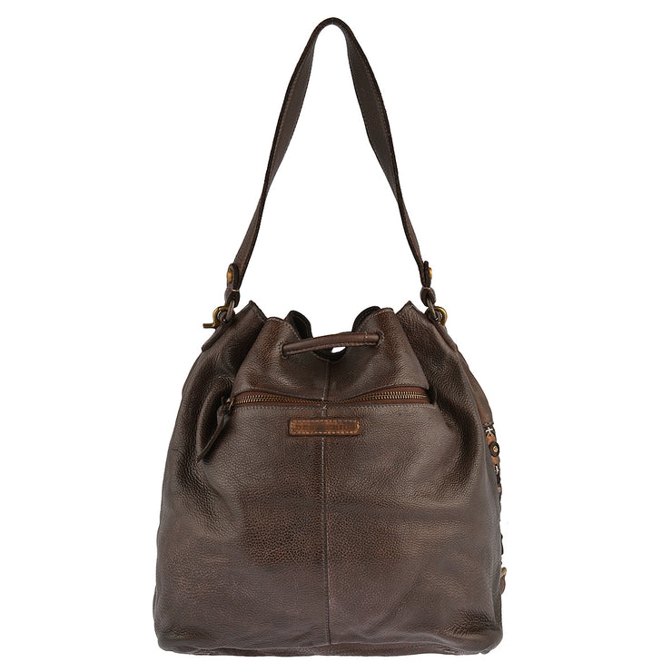 DESIDERIUS Bucket Bag Chloe in Dunkelbraun 7
