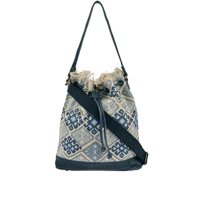 DESIDERIUS Bucket Bag Loona in Blau/Beige
