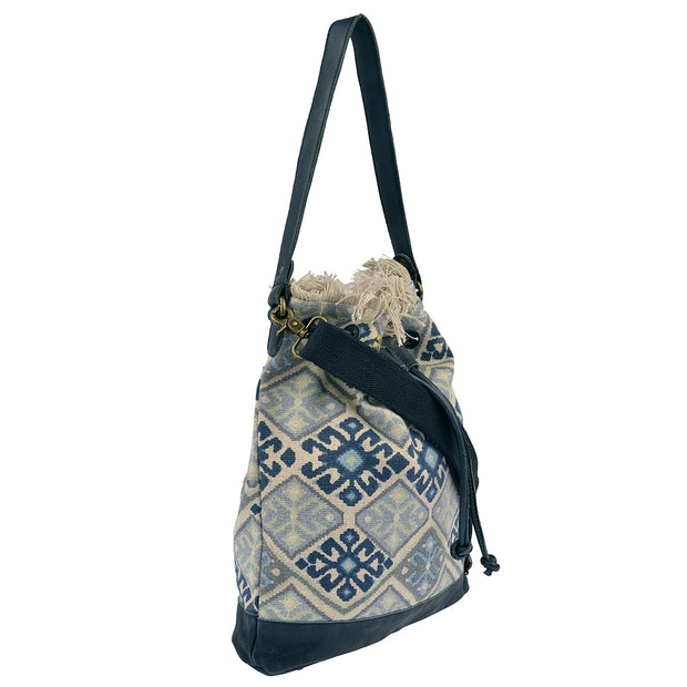 DESIDERIUS Bucket Bag Loona in Blau/Beige 2
