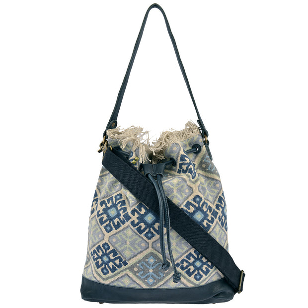 DESIDERIUS Bucket Bag Loona in Blau/Beige 3