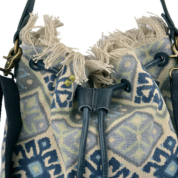 DESIDERIUS Bucket Bag Loona in Blau/Beige 8