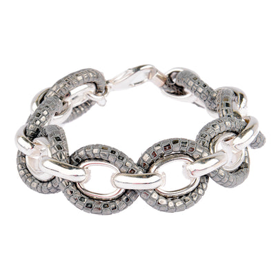 KATHY Jewels Armband Sun in Silber/Grau