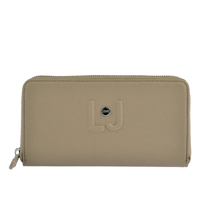 LIU JO Portemonnaie Zip Around in Taupe