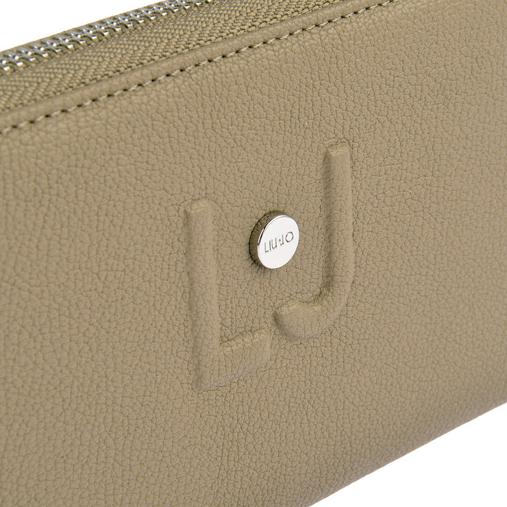 LIU JO Portemonnaie Zip Around in Taupe 3