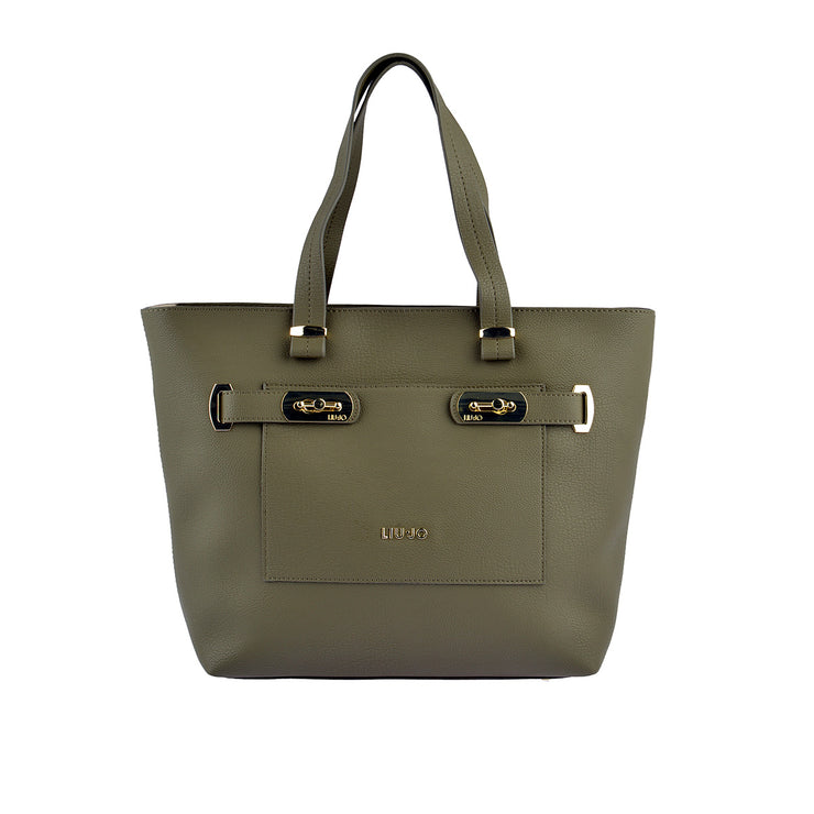 LIU JO Shopper Orizzontal in Khaki 1