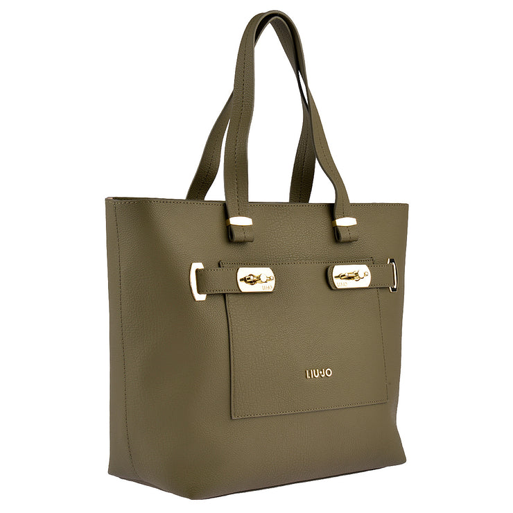 LIU JO Shopper Orizzontal in Khaki 2