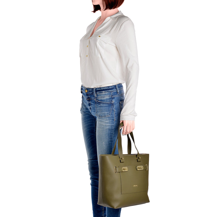 LIU JO Shopper Orizzontal in Khaki 5