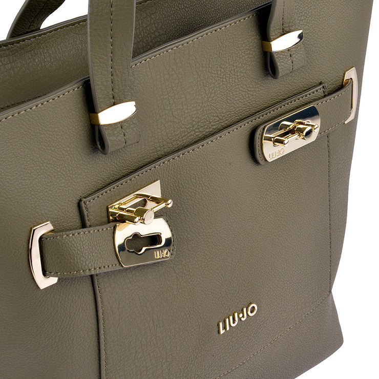 LIU JO Shopper Orizzontal in Khaki 7