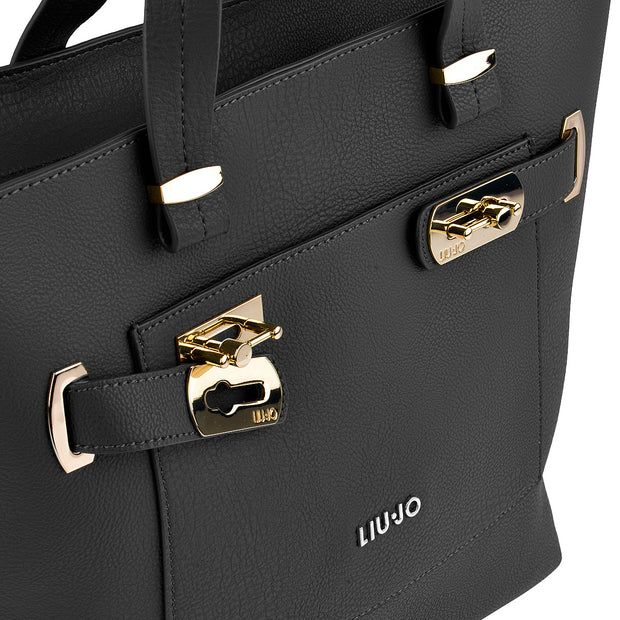 LIU JO Shopper Orizzontal in Schwarz