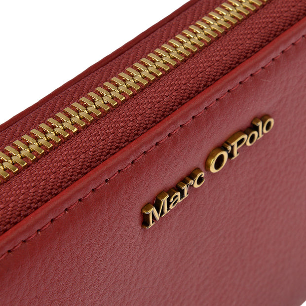 Marc O'Polo Geldbörse Zip Around in Rot