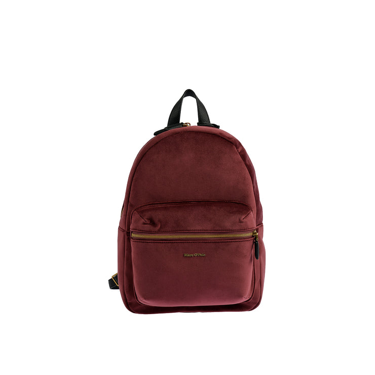 Marc O'Polo Rucksack Samt in Bordeaux 1