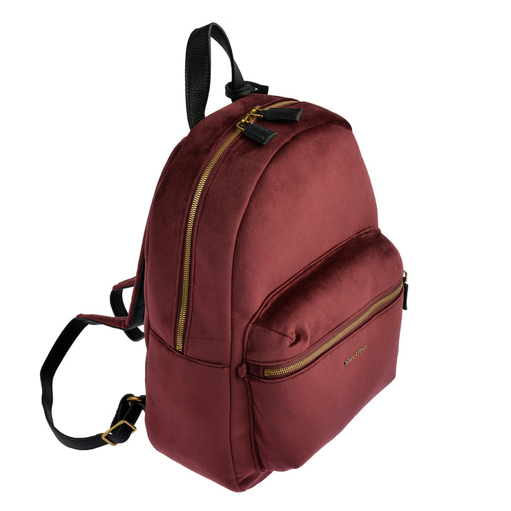 Marc O'Polo Rucksack Samt in Bordeaux 2