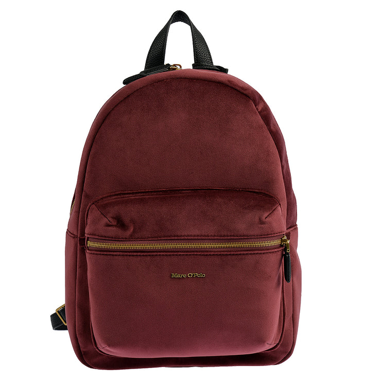 Marc O'Polo Rucksack Samt in Bordeaux 3