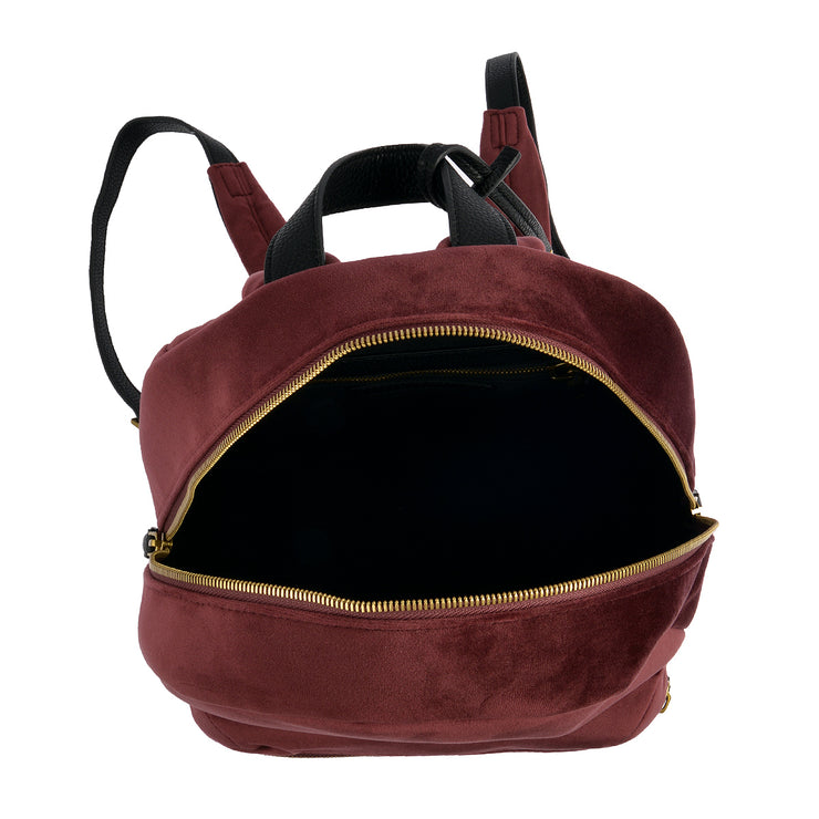 Marc O'Polo Rucksack Samt in Bordeaux 4
