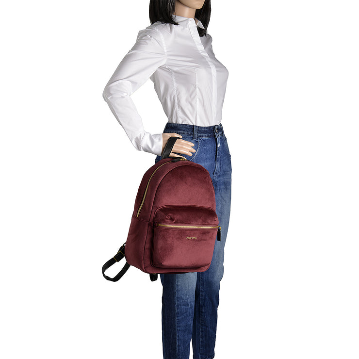 Marc O'Polo Rucksack Samt in Bordeaux