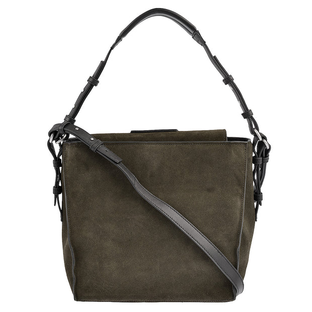 Marc O'Polo Umhängetasche Luxury Suede in Grau