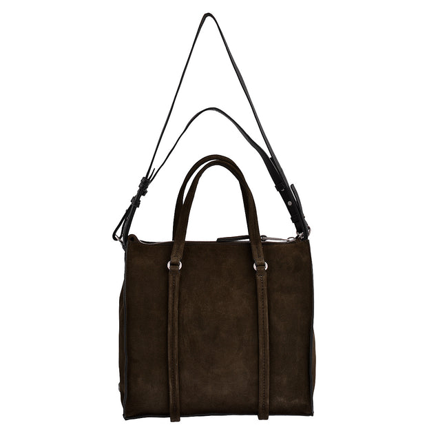 Marc O'Polo Shopper Luxury Suede in Dunkelbraun