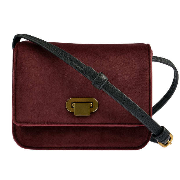Marc O'Polo Crossbody Bag Samt in Bordeaux 3