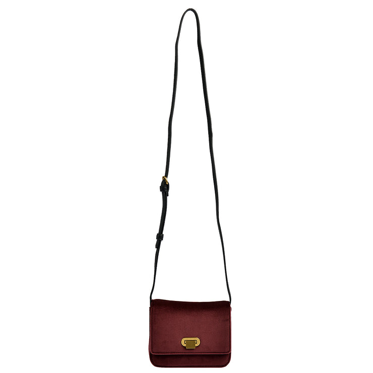 Marc O'Polo Crossbody Bag Samt in Bordeaux 6