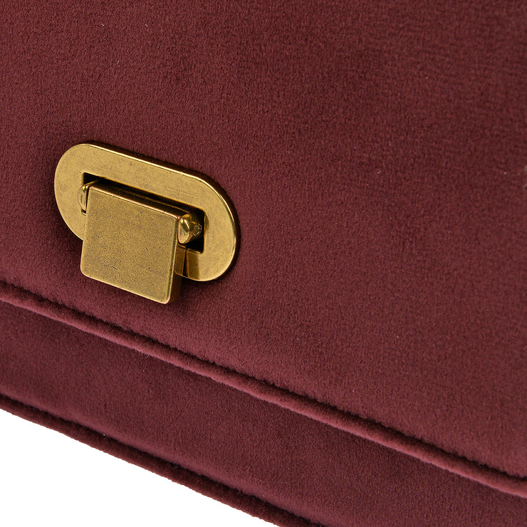 Marc O'Polo Crossbody Bag Samt in Bordeaux 8