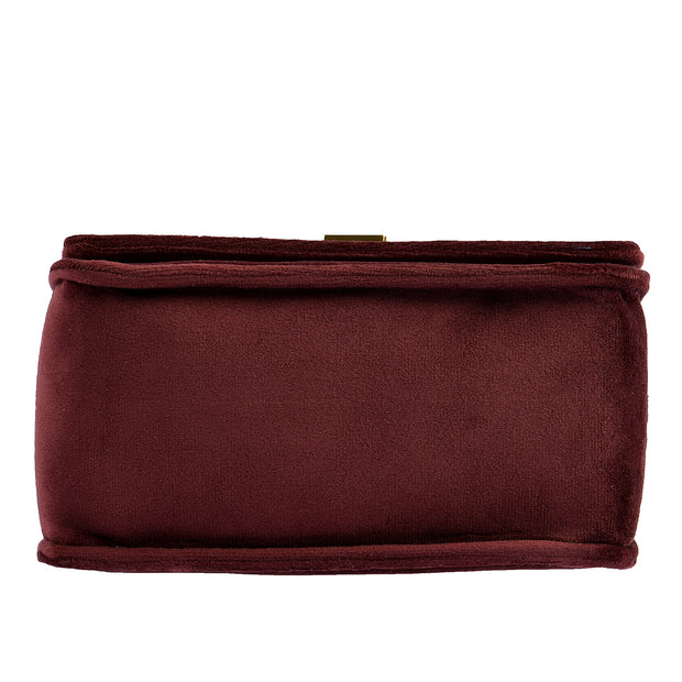 Marc O'Polo Crossbody Bag Samt in Bordeaux 9