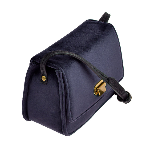 Marc O'Polo Crossbody Bag Samt in Blau 2