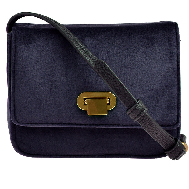 Marc O'Polo Crossbody Bag Samt in Blau 3