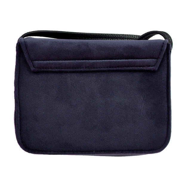 Marc O'Polo Crossbody Bag Samt in Blau 7