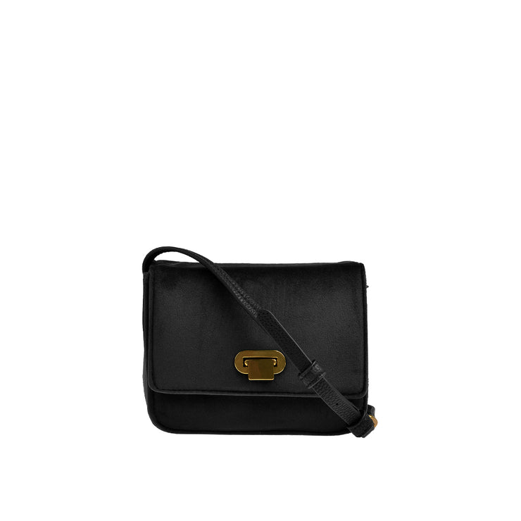 Marc O'Polo Crossbody Bag Samt in Schwarz 1